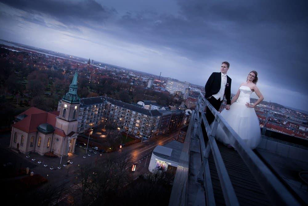 På toppen af Hotel Hvidehus