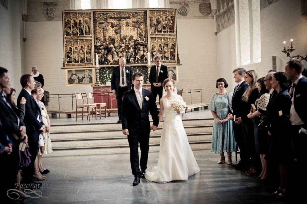 bryllup i Vor Frue Kirke i Aarhus